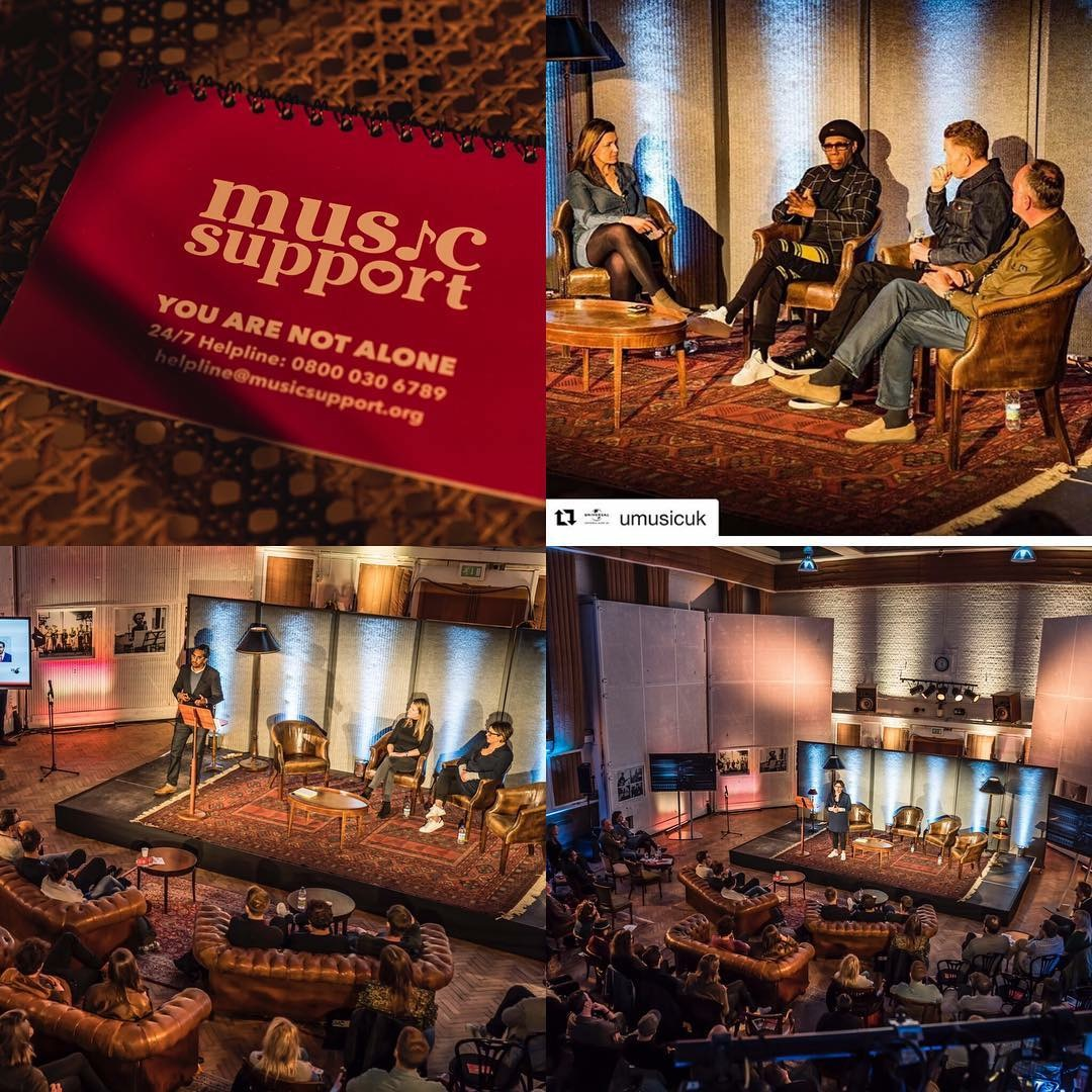Chula Goonewardene delivers addiction training to Universal staff at Abbey Rd Studios